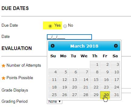 choose your due dates