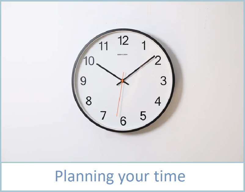 planning your time