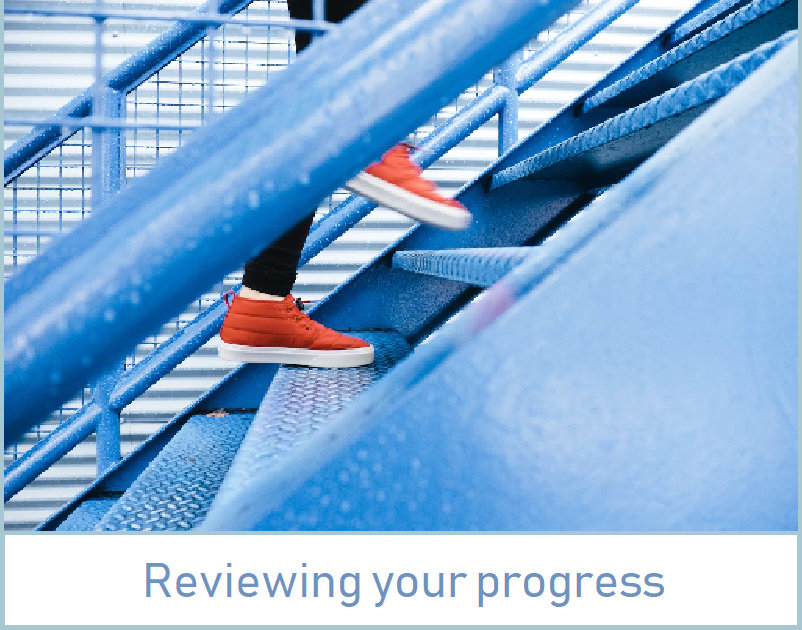 Reviewing your progress