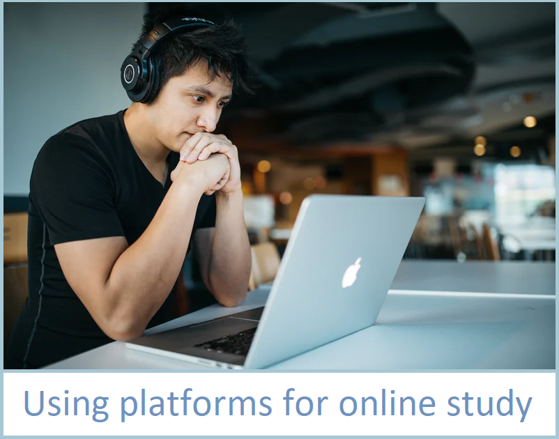 using online platforms for study