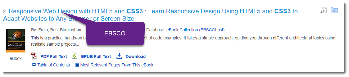 EBSCO EBOOK