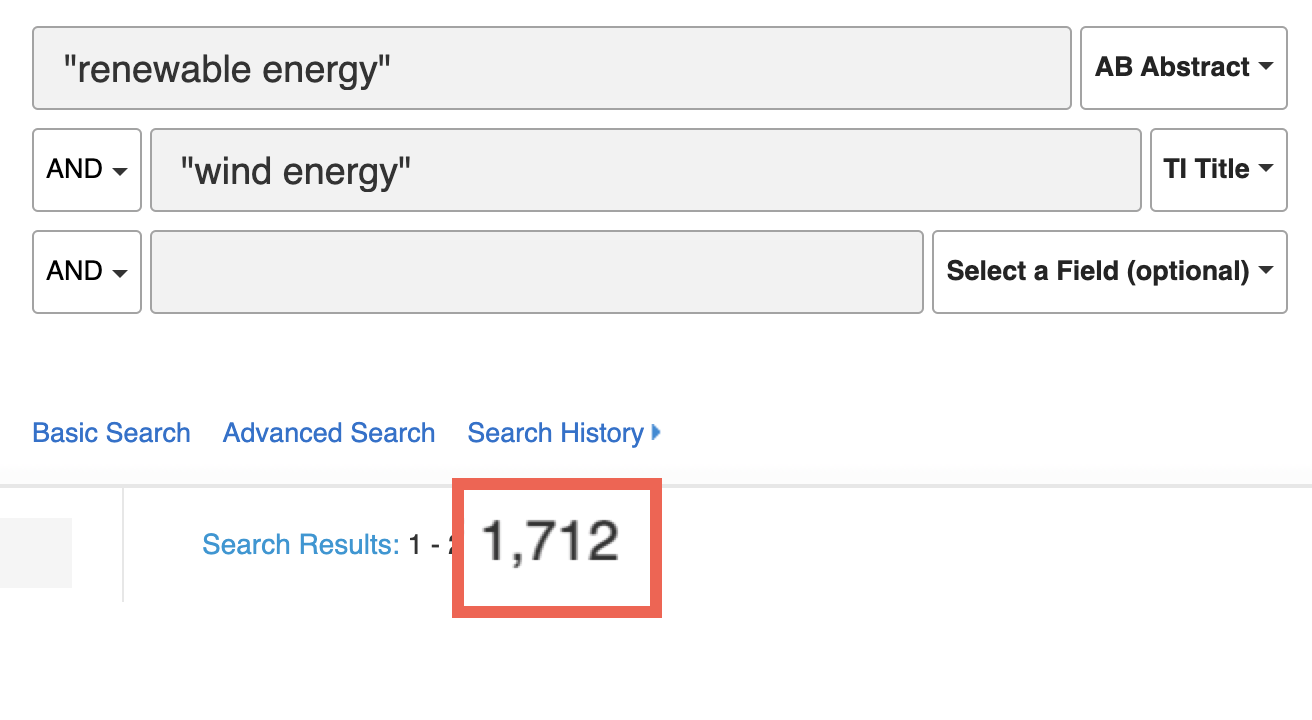 """search for """"renewable energy"""" and """"wind energy"""""""