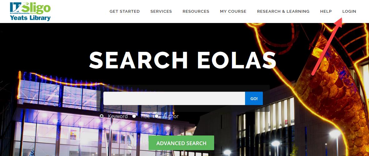 eolas search box