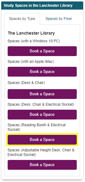 Choose the type of space you need.