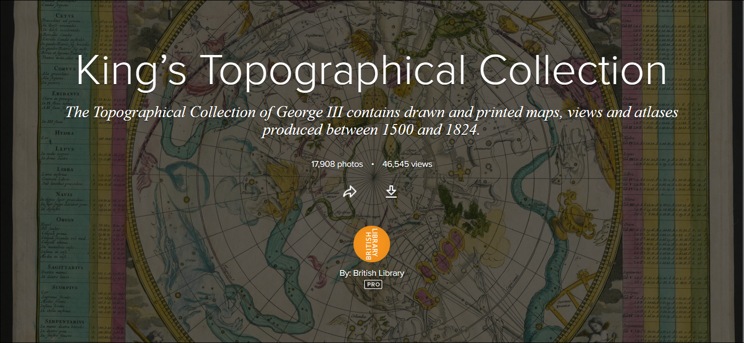 King's Topographical Collection at British Library image