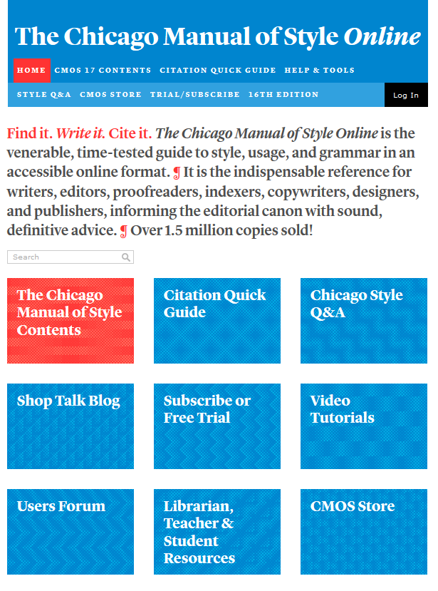 Chicago Manual of Style Online