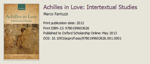 Screenshot from Oxford Scholarship Online showing a DOI