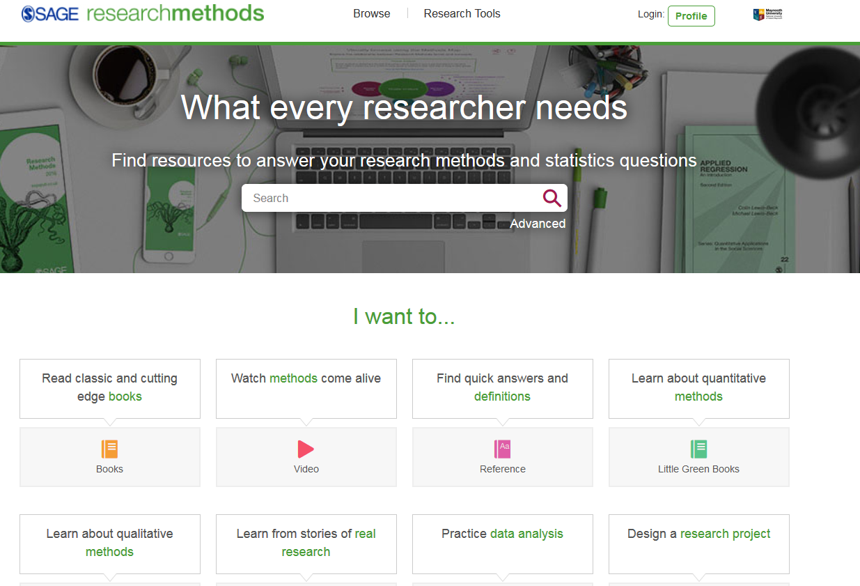 Screenshot of Sage Research Methods