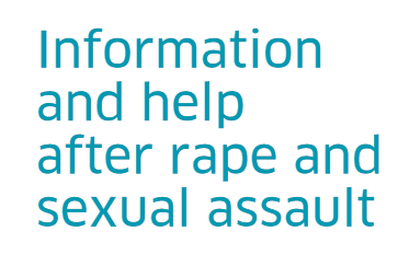 Information and help after rape and sexual assault