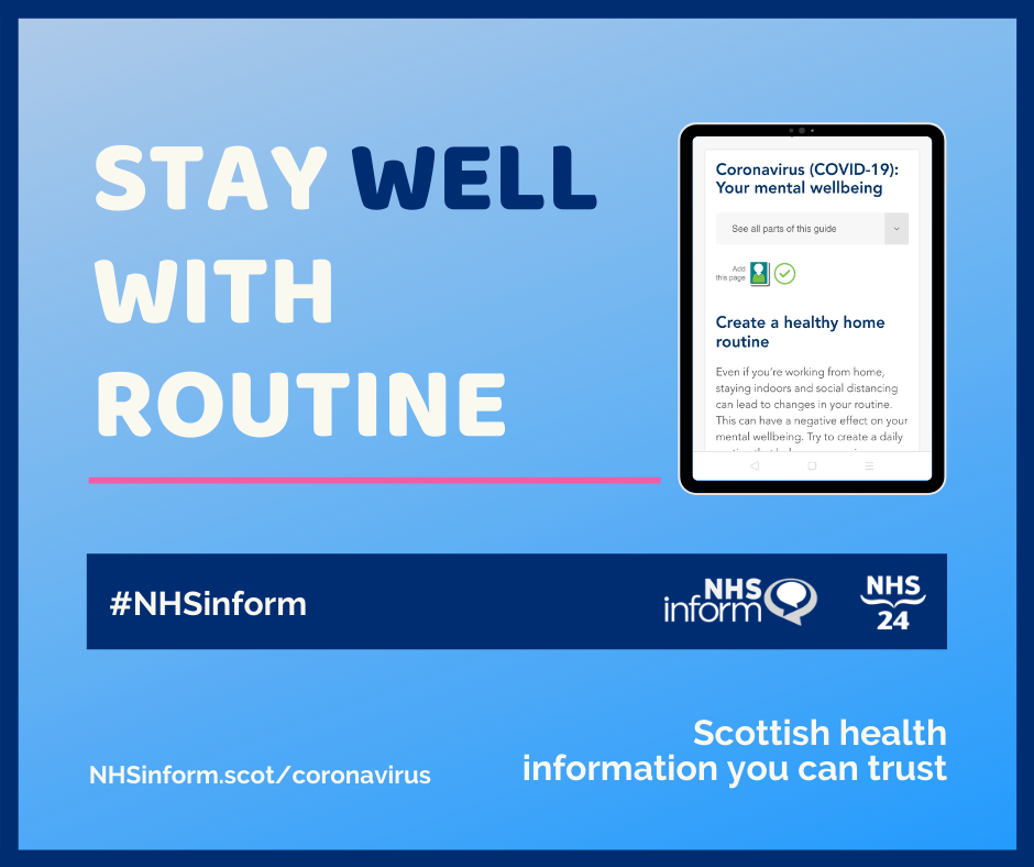 Stay well with routine