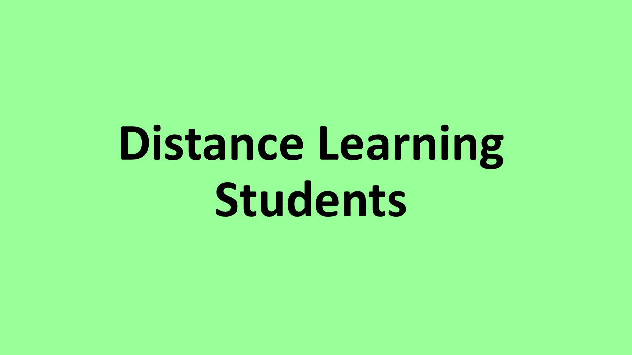 Distance Learning Students