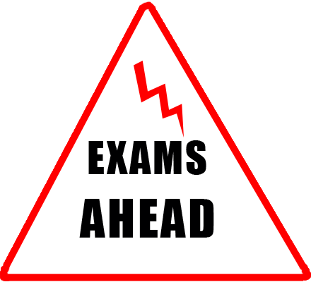 Warning Triangle Sign - Exams Ahead