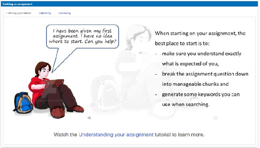 Tackling an assignment
