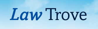 The logo for Law Trove