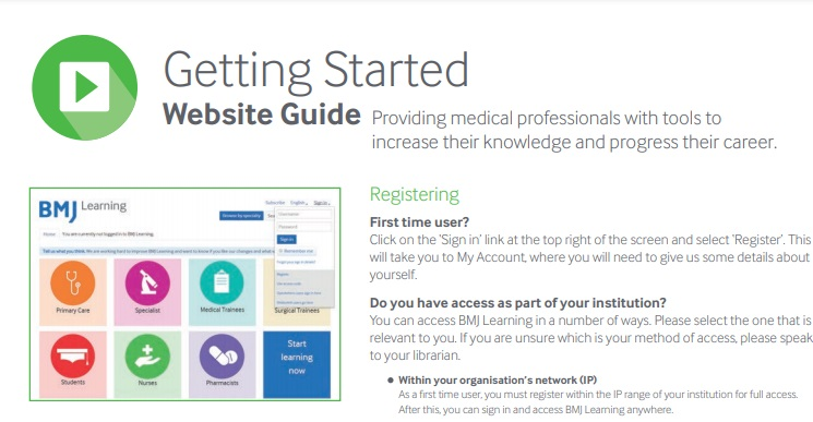 BMJ Learning guide