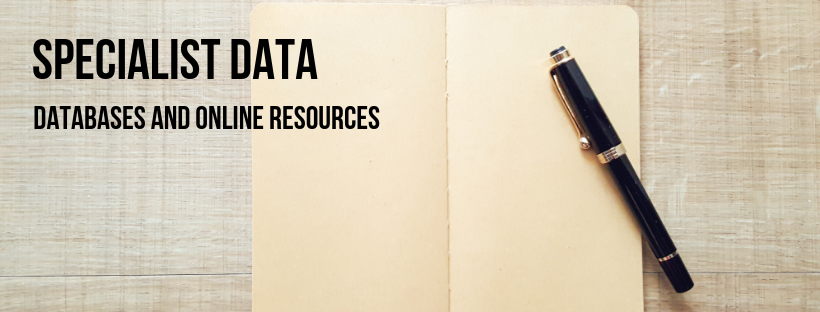 Link to specialist data. Databases and online resources.