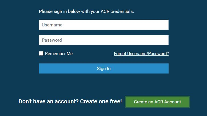Create and ACR account