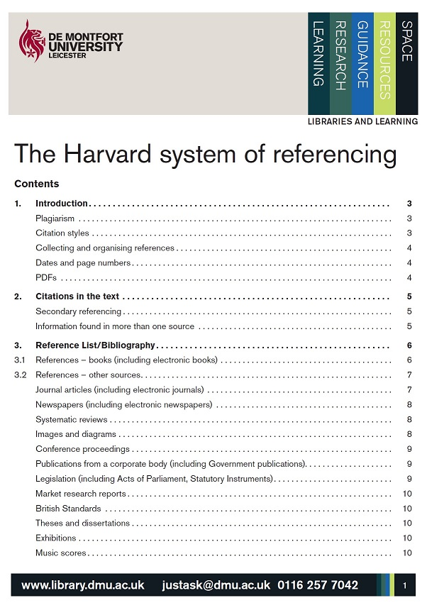 Link to Harvard Referencing Guide