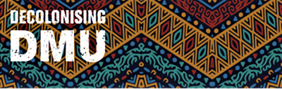 Decolonising DMU Logo