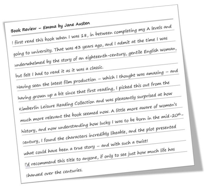 Handwriten book review