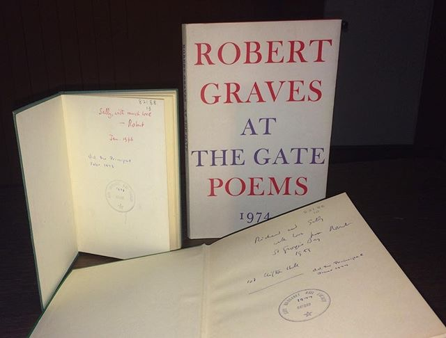 Books by Robert Graves given to Sally Chilver