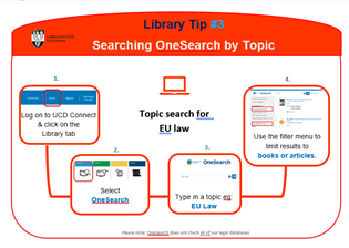thumbnail image of a law tip on topic searching in onesearch