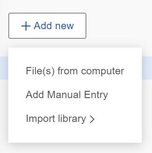 mendeley add files