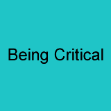 Being Critical