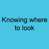 Knowing where to look