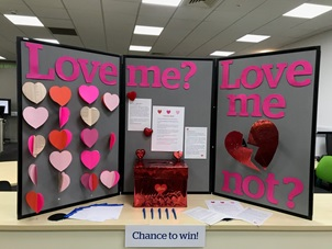 Display of love letters at Cambridge library
