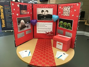 Display of love letters at Chelmsford library