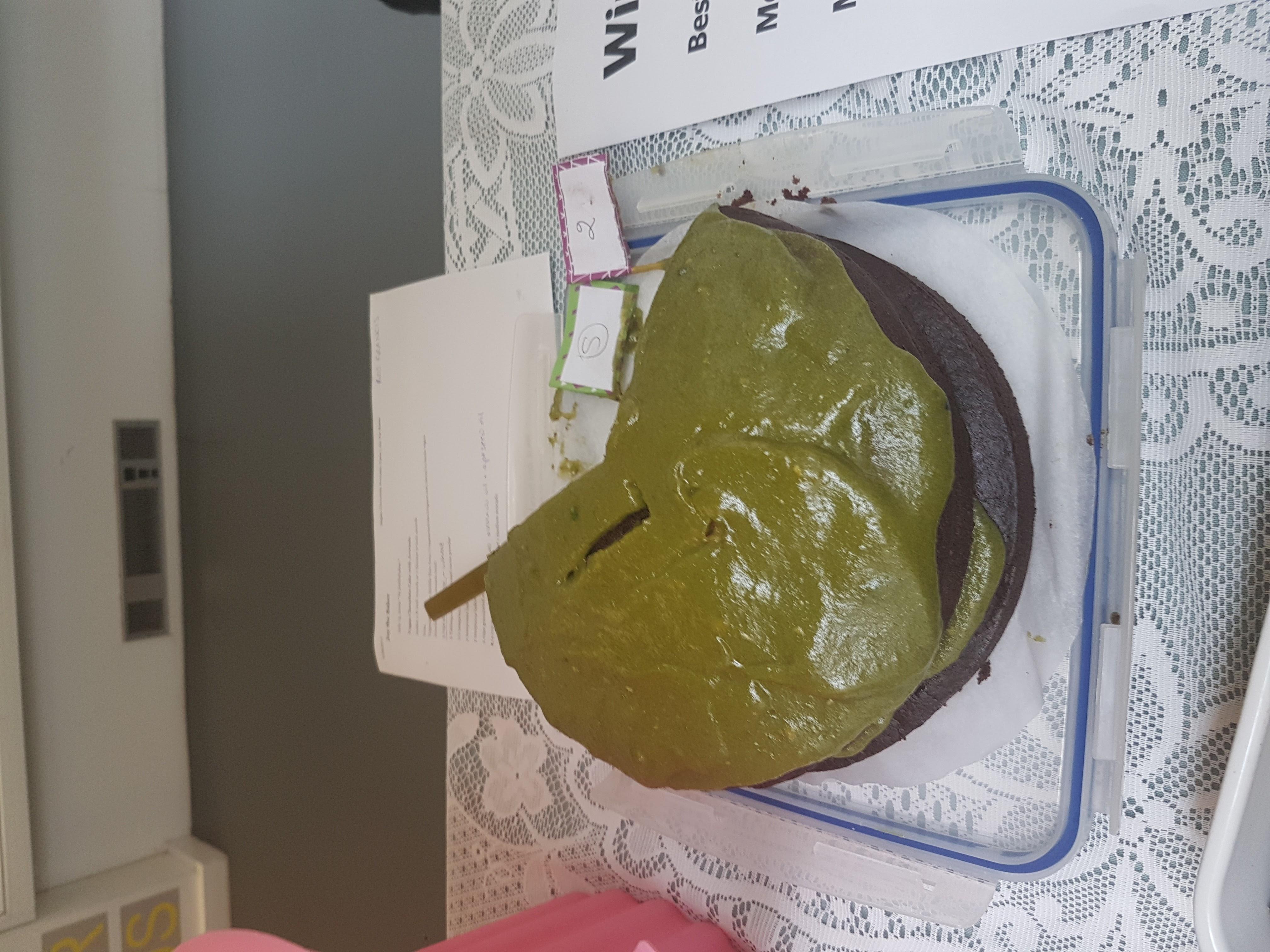 Vegan avocado cake