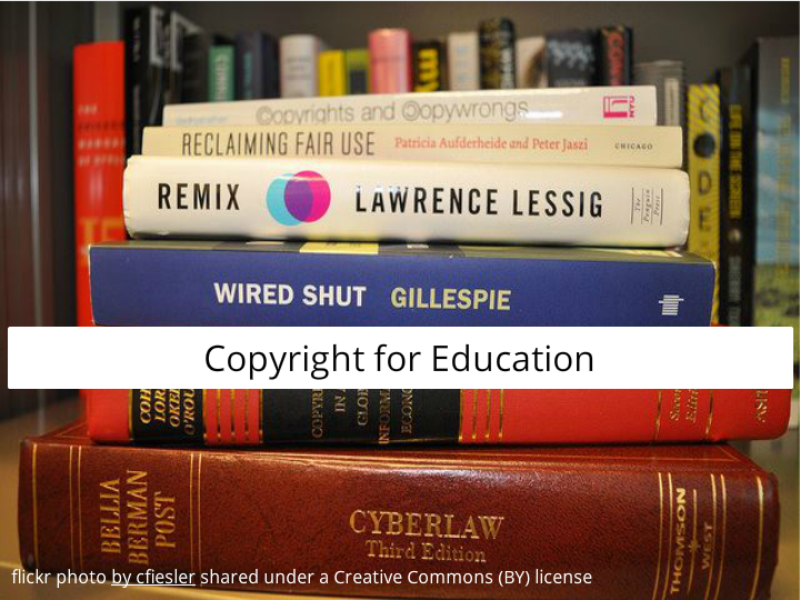 Photo of books about copyright law