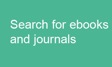 Search for ebooks and journals