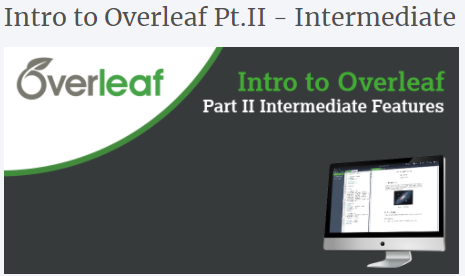 Introduction to Overleaf part 2