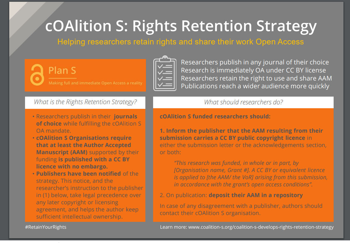 coalition S Rights Retention Strategy