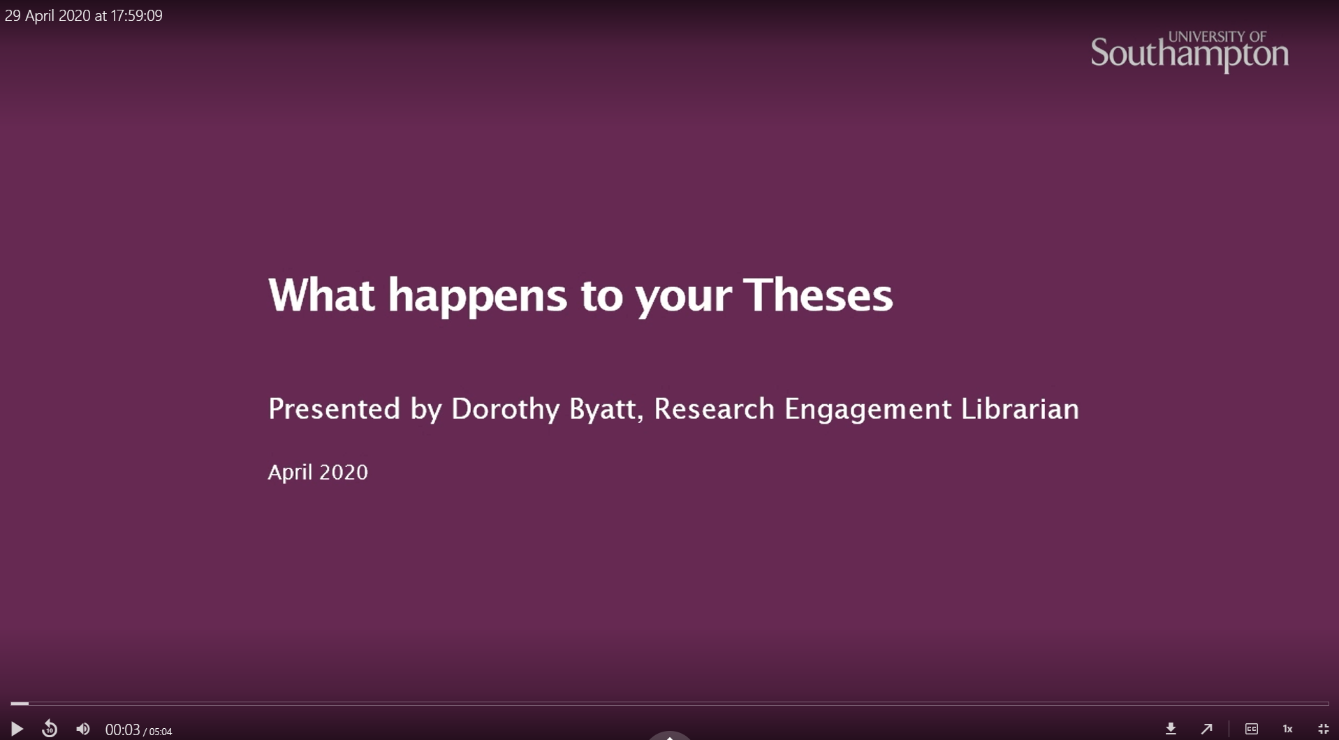 what happens to your theses