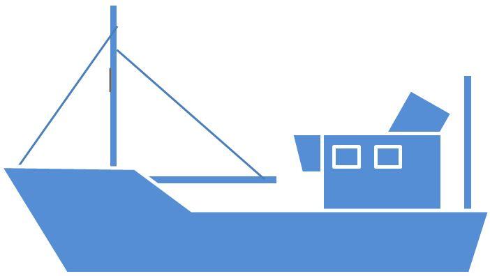 Trawler blue left