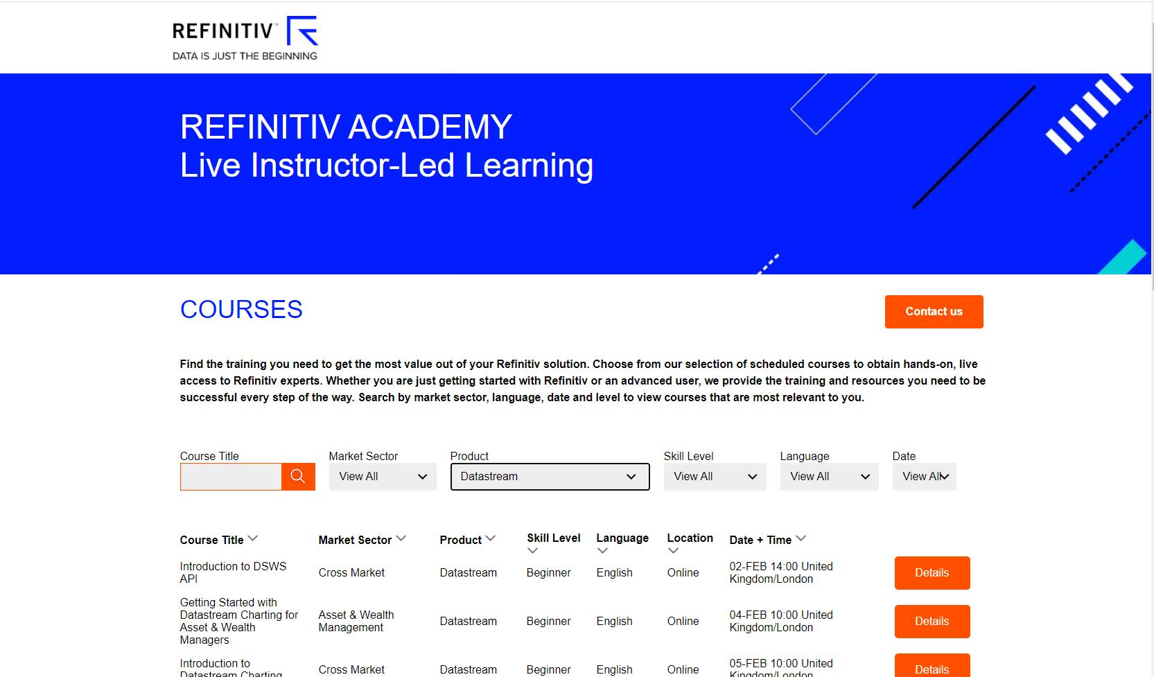 Refinitiv Academy
