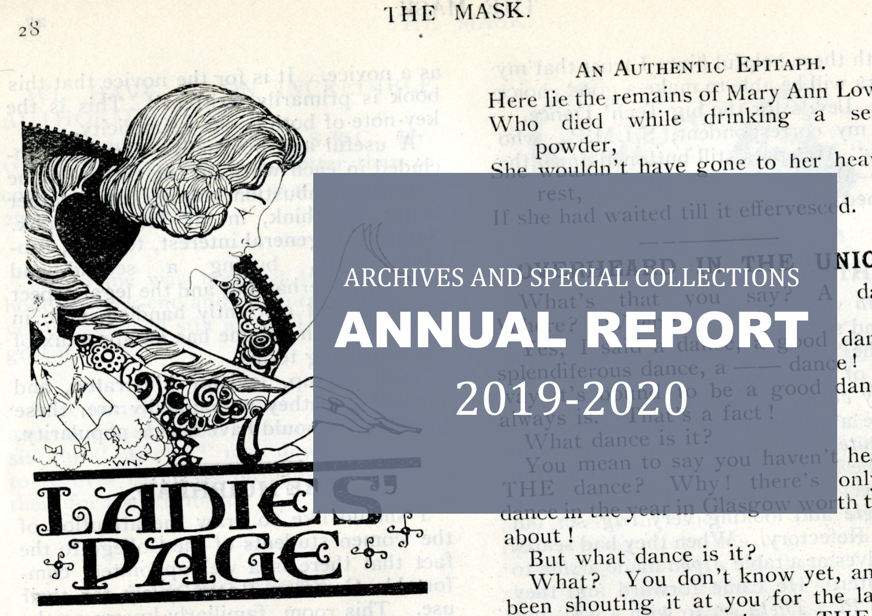 Archives and Special Collections annual report 2019-2020