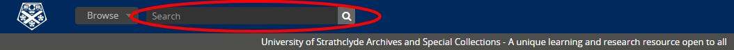 Archive catalogue search box