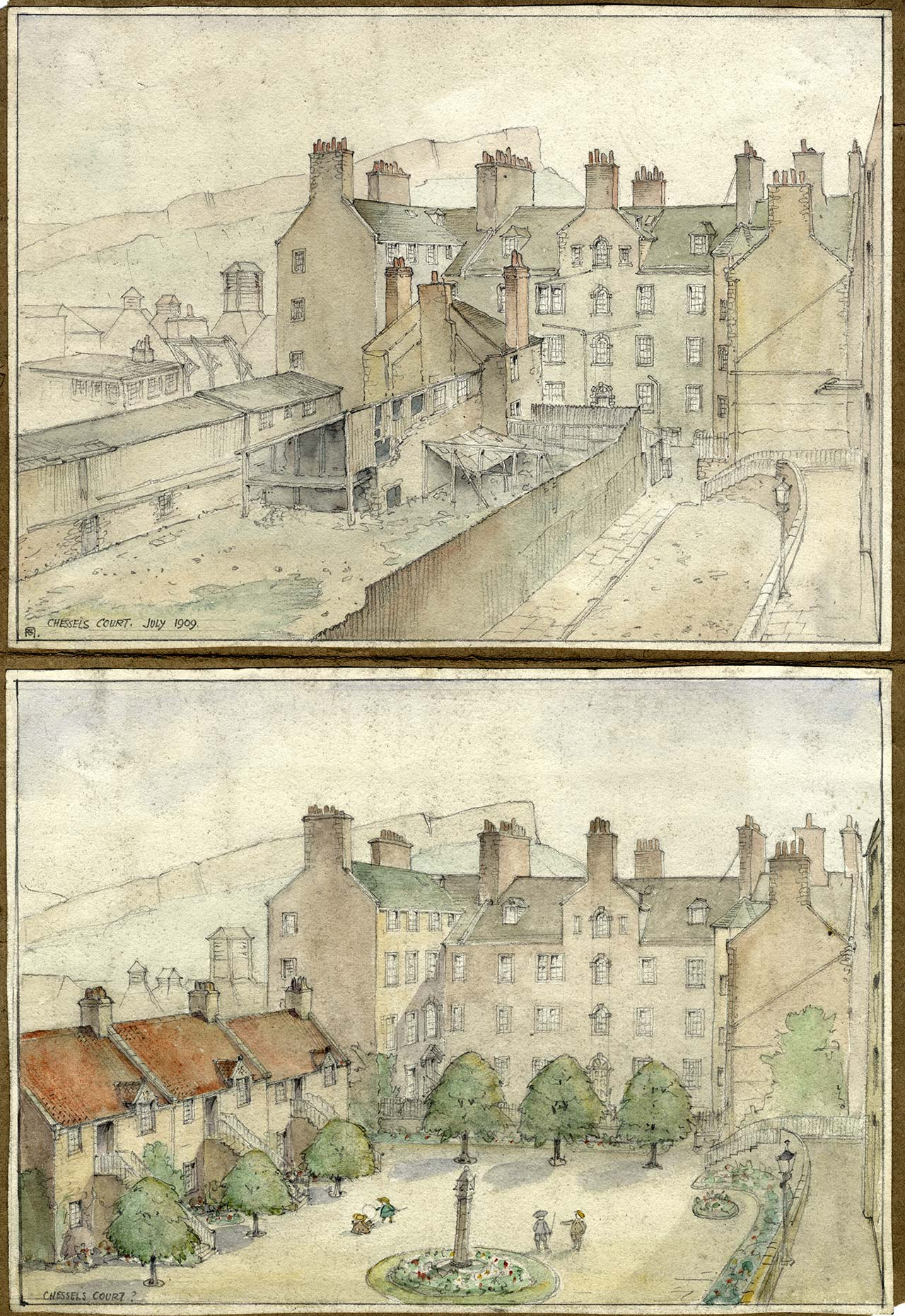 Chessel's Court by Norah Geddes, 1909