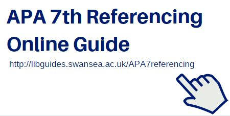 APA 7th Referencing online guide