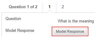 Model Response button