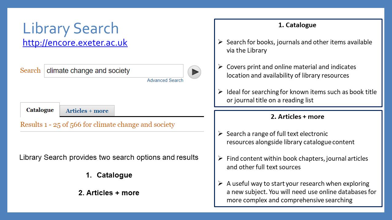 Library Catalogue Screenshot