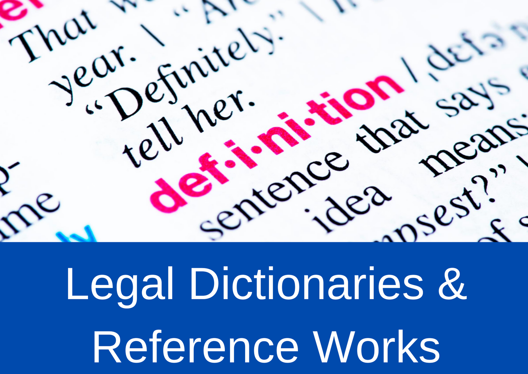 Legal Reference Works