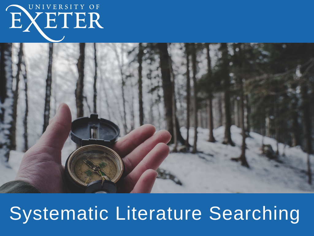 Systematic literature searching title image