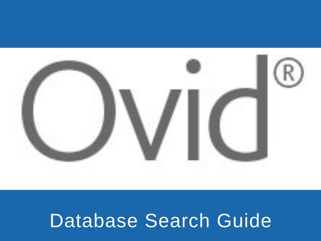 Ovid search guide