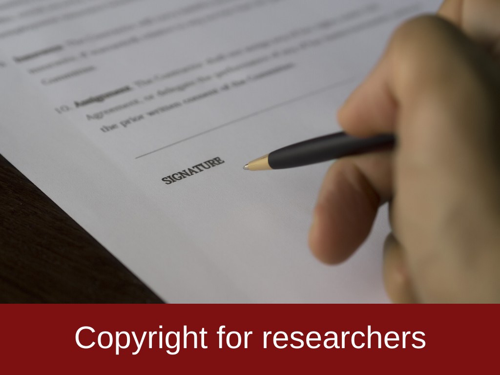 Copyright for researchers