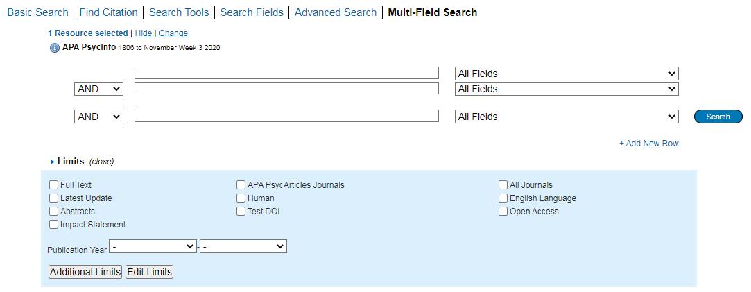 Multi-field search option